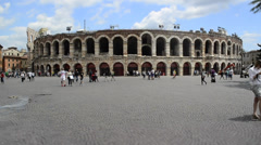 Timelapse at Verona Arena, Italy - stock footage