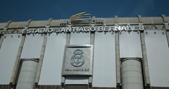 4K Video of Real Madrid Football club,  Santiago Bernabéu Stadium, Spain Stock Footage