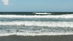 1857 Ocean Waves at the Beach, HD Stock Footage