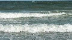 1856 Ocean Waves at the Beach, HD - stock footage