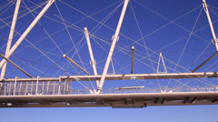 Floating walkway - Tensile Bridge Stock Footage