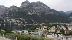 Timelapse at Riva del Garda, Italy Stock Footage