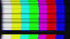 Tv Interference vintage Color bars SMPTE - 1080p - stock footage