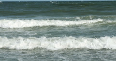 1856 Ocean Waves at the Beach, 4K - stock footage