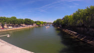 Stock Video Footage of Paris Seine
