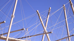 Tensile Construction - Bridge Frame Stock Footage