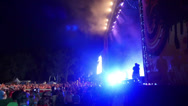 Stock Video Footage of Outdoor Concert Crowd