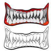 The jaws Stock Illustration