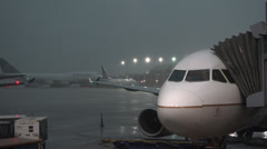 Torrential rain and wind at Chicago's O'Hare airport - stock footage