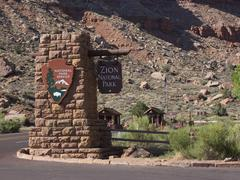 Zion National Park Utah entrance Stock Photos