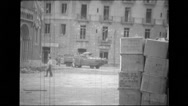 Military men working in the city Stock Footage