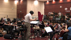 Symphony orchestra rehearsal Stock Footage