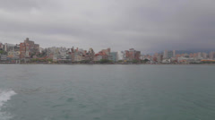 View of tamsui from the ferry Stock Footage