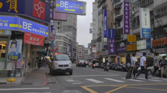 Middle of popular shida street - many shops Stock Footage