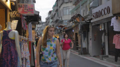 Just before evening in shida night market area Stock Footage