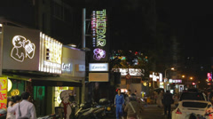 People walking on tea street - dunhua Stock Footage