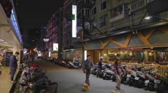 Evening tea steet - dunhua district Stock Footage