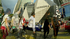 KUALA LUMPUR, People crossing the road at Bukit Bintang. Time lapse Stock Footage