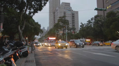Evening - heping street popular student area Stock Footage