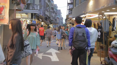 Evening approaches - shida lane market lifestyle Stock Footage