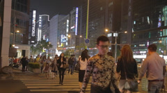 Zhongxiao and dunhua - taipei downtown pedestrians Stock Footage