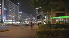 Pan at  dunhua main intersection Stock Footage