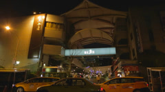 Taipei fish market entrance Stock Footage
