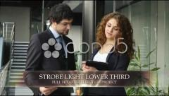 Strobe Light Lower Third Stock After Effects