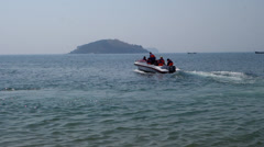 Speed boat on the sea Stock Footage