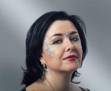 Stock Photo of vedic style facial makeup