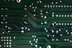 Stock Photo of electronic circuit board macro photo