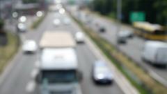 De-focused Highway Traffic - stock footage