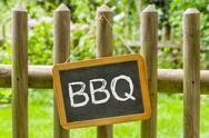 Stock Photo of blackboard with the inscription bbq