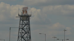 Heathrow airport radar tower 4k Stock Footage