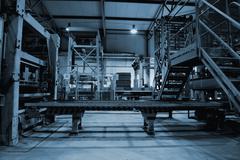 Empty factory Stock Photos