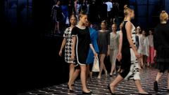 Fashion Show-Finale Stock Footage