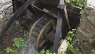 Stock Video Footage of water wheel