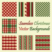 Seamless christmas vector backgrounds Piirros