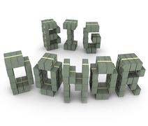 big donor cash stacks piles letters word contributor fundraiser backer - stock illustration