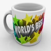 world's best mug award prize top performing employee boss parent - stock illustration