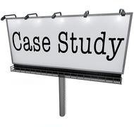 case study words billboard banner sign example anecdote - stock illustration