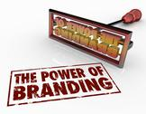 Stock Illustration of power of branding iron words marketing identity trust