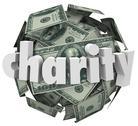 Stock Illustration of charity money ball fundraiser hundred dollar sphere