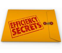Efficiency secrets yellow classified envelope confidential tips advice Stock Illustration