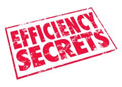 efficiency secrets red stamp classified confidential tips advice - stock illustration