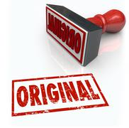 Stock Illustration of original word stamp first innovation creative originality unique