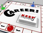Stock Illustration of career board game keep moving advancing promotion