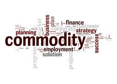 commodity word cloud - stock illustration
