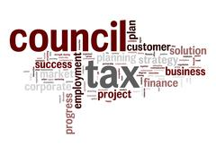 council tax word cloud - stock illustration