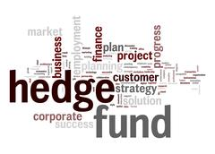 hedge fund word cloud - stock illustration